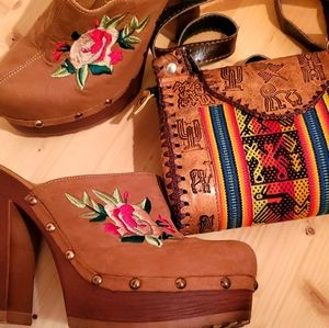 Bohemian, Retro Platform shoe and purse bundle